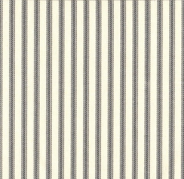 "84"" Shower Curtain, Unlined, Brindle Gray Ticking Stripe traditional-shower-curtains"