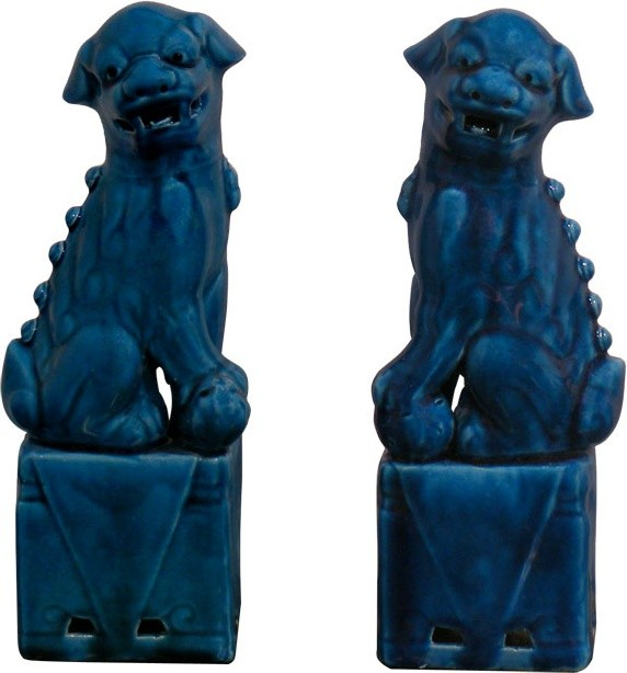 Turquoise Foo Dogs asian-accessories-and-decor
