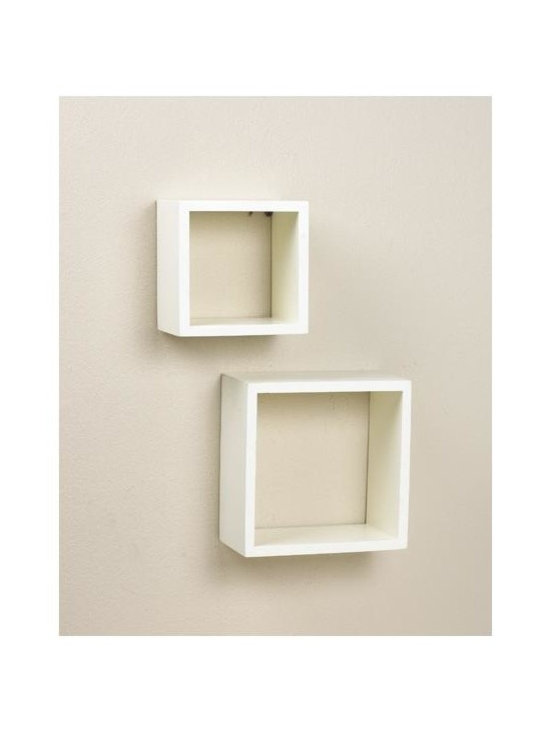 Lewis Hyman - Duo Wall Sconces - Fun and innovative, this pair of wall cubes is a delightful accessory for your home.  In two sizes, the shadowbox style square frames will showcase and enhance the look of whatever you choose to display.  Order several pairs and bunch together for a dramatic decorator look.  The simple and pure white finish will blend with any color scheme you may have. Upper Cube Shelves: 6 in. W x 6 in. H. Lower Cube Shelves: 8 in. W x 8 in. H. Made from MDF. Combines multiple set. Create an interesting display. Minimal assembly requiredThis Duo Sconce Set will add a new and interesting element to
