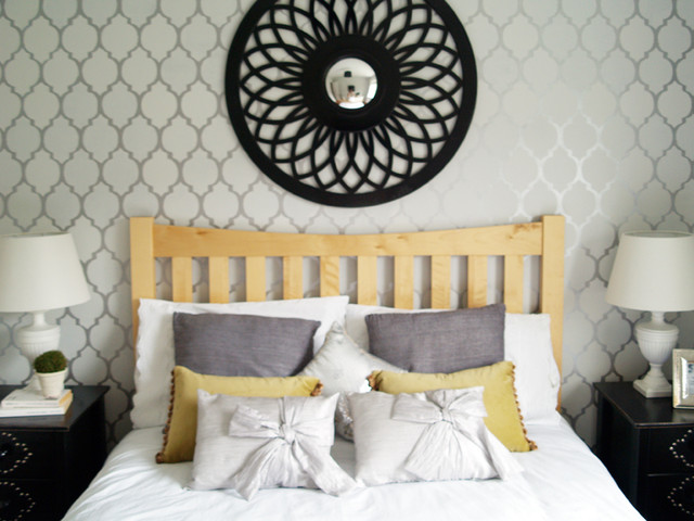Gray bedroom contemporary-bedroom
