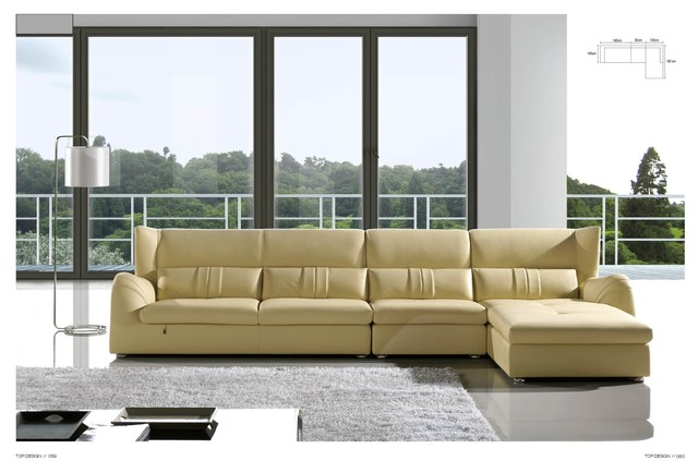 Fisher Italian Leather Sectional Sofa Modern Sectional Sofas Los Angele