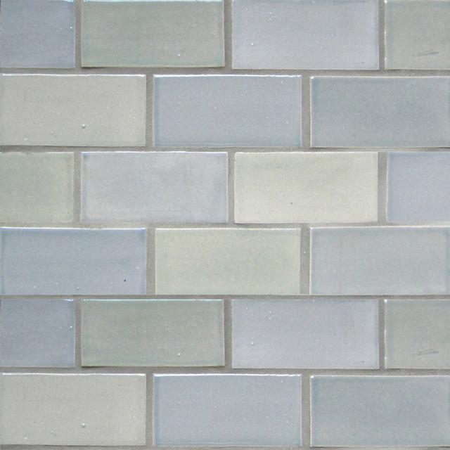 "2""x4"" Subway Tile in Light Grey modern-tile"