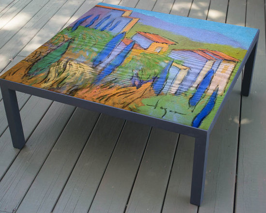 Hand Painted Coffee Table, Three Sisters Design, made to order -