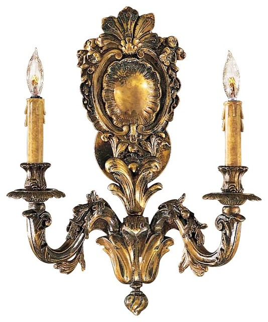 "Metropolitan Collection 19"" High 2-Light Wall Sconce traditional-wall-sconces"
