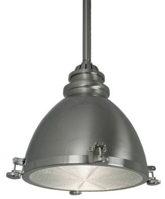 Home Decorators Collection 1-Light Ceiling Brushed-Nickel Metal Dome Pendant 253 contemporary-pendant-lighting