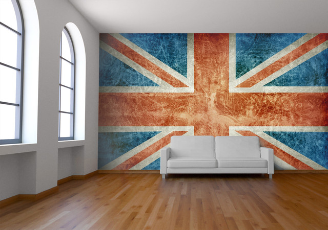 Union jack wall mural wallpaper for Decoration murale union jack