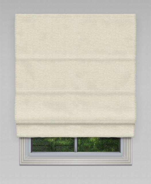 Blockout Hilton Roman Blind Ivory Modern Roman Shades