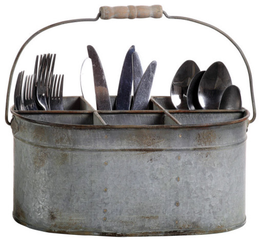 Galvanized Tin Caddy - traditional - tabletop - by Farmhouse Wares