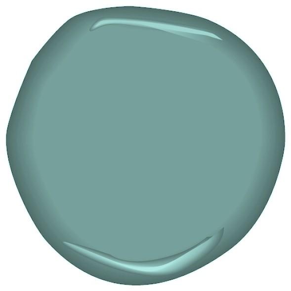 Antiqued Aqua Paint paint