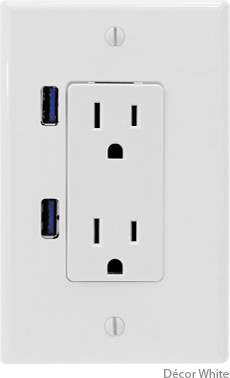 U-Socket contemporary switchplates