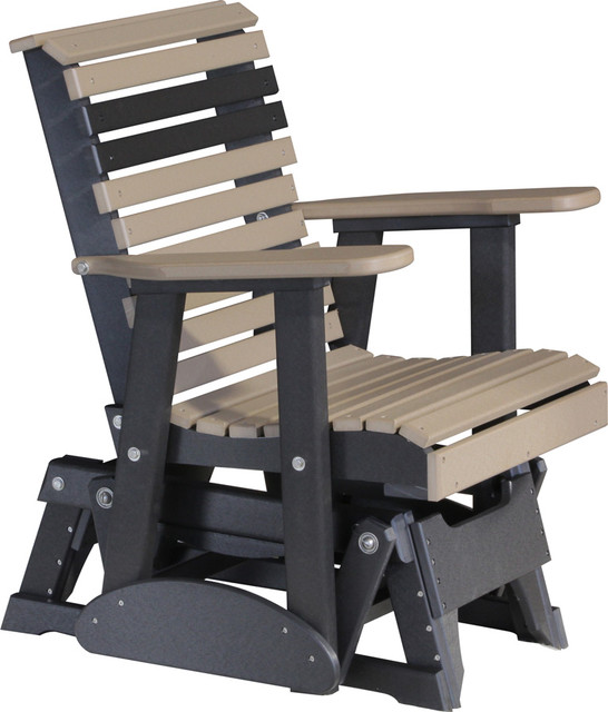 Outdoor Poly 2 Foot Porch Glider Chair Rollback