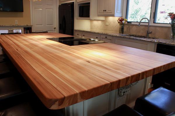 Custom Hickory Bucher Block Kitchen Island Traditional  : traditional kitchen countertops from www.houzz.com size 600 x 400 jpeg 75kB