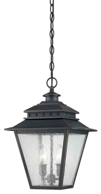 Quoizel CAN1911WB Carson Weathered Bronze Outdoor Hanging Lantern traditional-outdoor-hanging-lights
