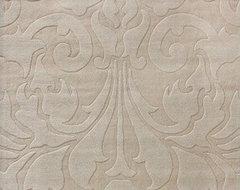 Gradient Damask Sand Rug modern-rugs
