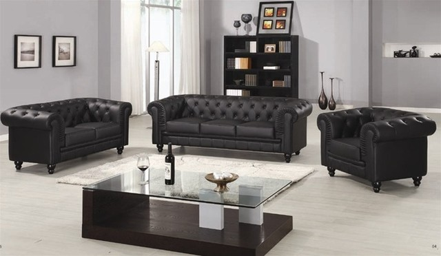 Frederick Classic Leather Sofa Set Traditional Living Room Furniture Sets Boston By