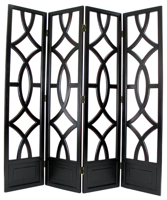 Wayborn Charleston Room Divider in Antique Black modern-screens-and-room-dividers