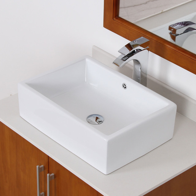 ... Square Bathroom Sink - Contemporary - Bathroom Sinks - by Overstock