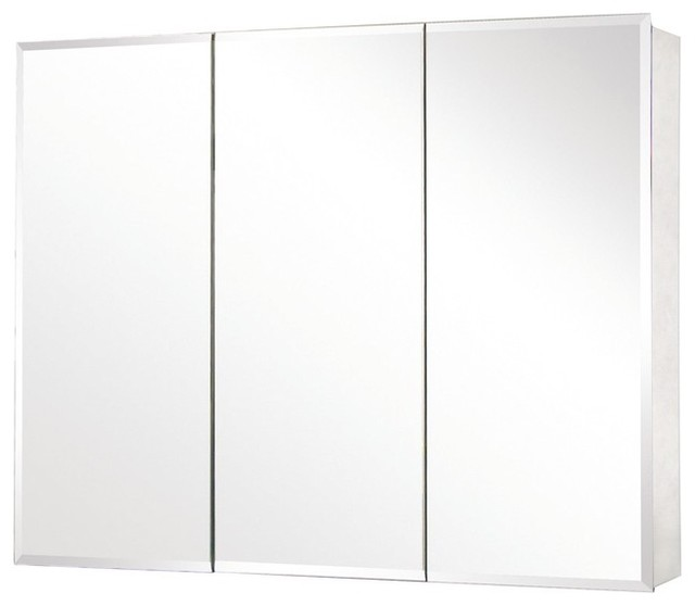 tri view beveled mirror medicine cabinet traditional bathroom cabinets