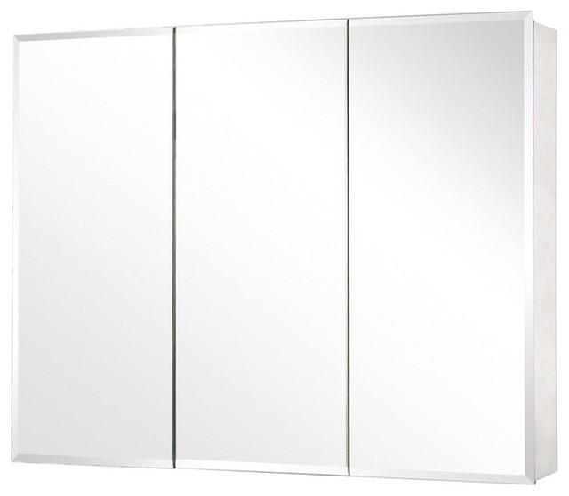 "Pegasus SP4590 48"" x 31"" Tri-View Beveled Mirror Medicine Cabinet - Traditional - Medicine ..."