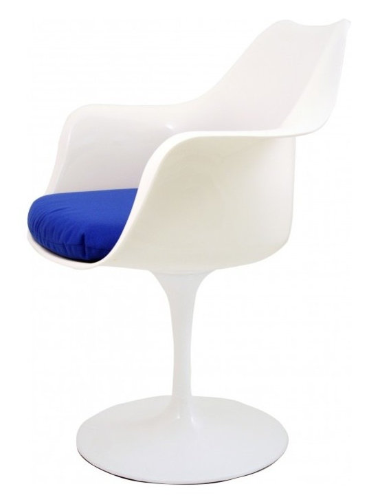 Eero Saarinen Chair - Blue - Retro Eero Saarinen inspired tulip chair with red, black or blue cushion. This statement piece of furniture instantly transforms any space