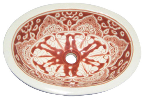 Made to order Talavera Hand Painted Mediterranean  Style  Sink, Small mediterranean-bathroom-sinks