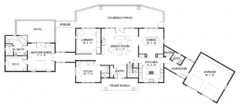 ePlans Craftsman House Plan – Sunny Contemporary Craftsman – 4118 Square Feet an