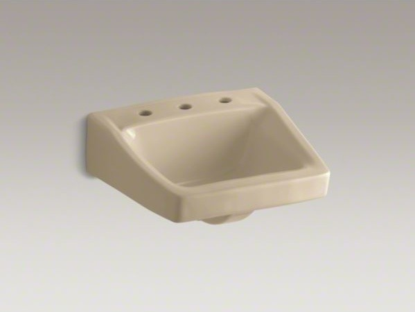 """KOHLER Chesapeake(TM) 19-1/4"""" x 17-1/4"""" wall-mount/concealed arm carrier bathroo contemporary-bathroom-faucets"""