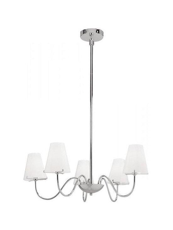 Access Lighting 23965-CH/OPL Five Light Chrome Up Chandelier -