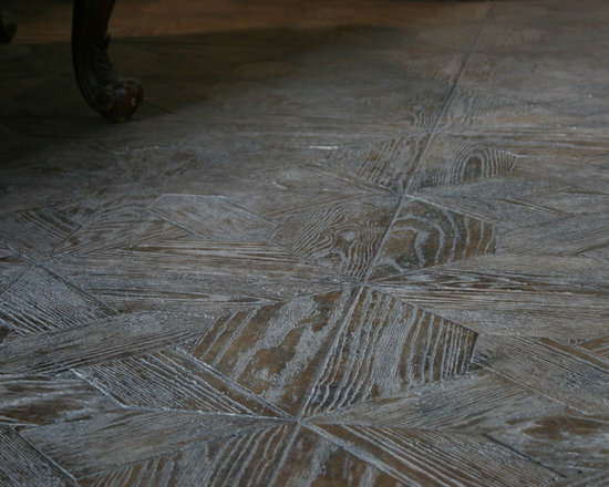 Flooring made from Concrete Tiles - concrete tile floor made to look like hardwood floor  by Realm of Design  Realm of Design
