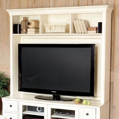 wesley media 60 inch console with hutch traditional entertainment centers and tv stands by. Black Bedroom Furniture Sets. Home Design Ideas