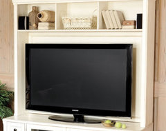 Wesley Media 60 Inch Console with Hutch traditional-media-storage