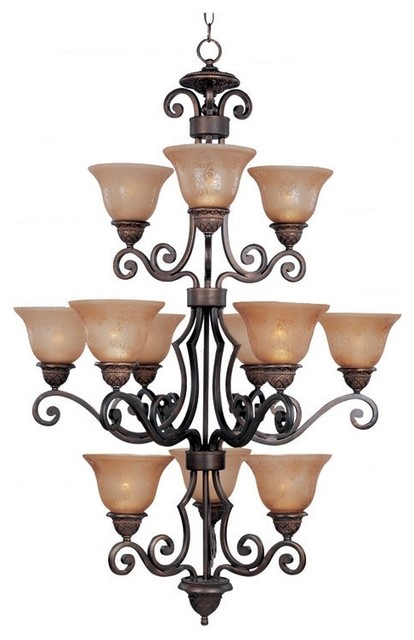 Transitional Symphony Collection Twelve Light Chandelier traditional-chandeliers