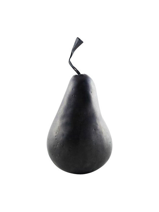 SOLD OUT!  Metal Pear Scultpure - $120 Est. Retail - $30 on Chairish.com -