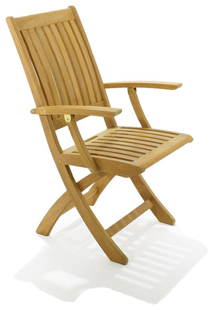 Barbuda Folding Armchair traditional-outdoor-lounge-chairs