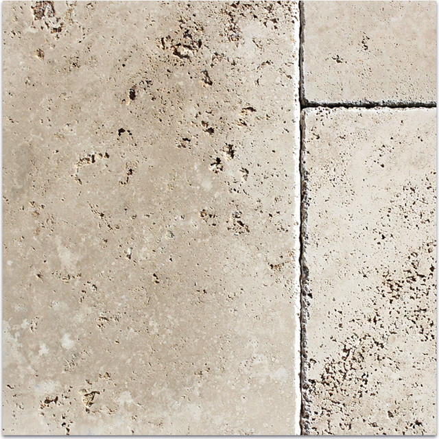 Cappuccino Cobblestone Travertine Tiles Mediterranean