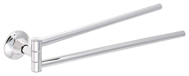 Chrome 16 Inch Double Swivel Towel Bar contemporary-towel-bars-and-hooks