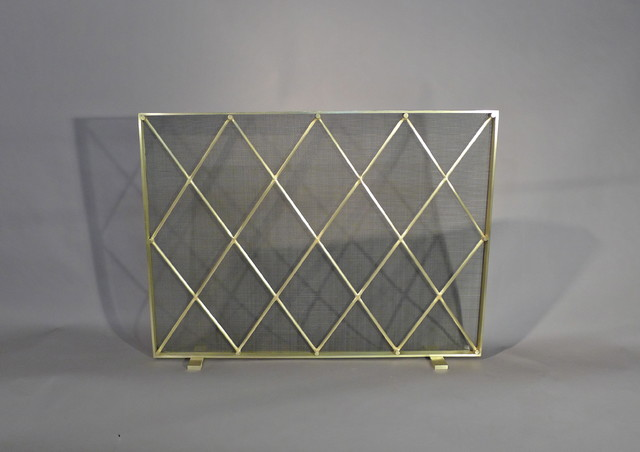 midcentury modern fireplace screen contemporary