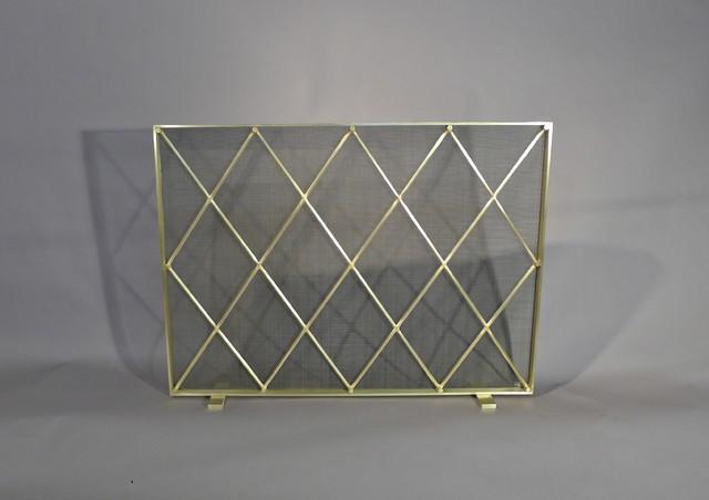 Midcentury modern fireplace screen contemporary fireplace screens chicago by kramer - Houzz fireplace screens ...