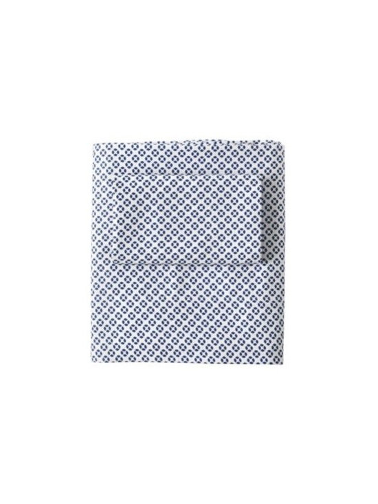 Cut Circle Sheet Set  Navy