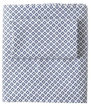 Cut Circle Sheet Set  Navy traditional-sheet-and-pillowcase-sets