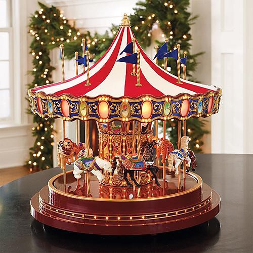 Worlds Fair Anniversary Carousel Christmas Decorations