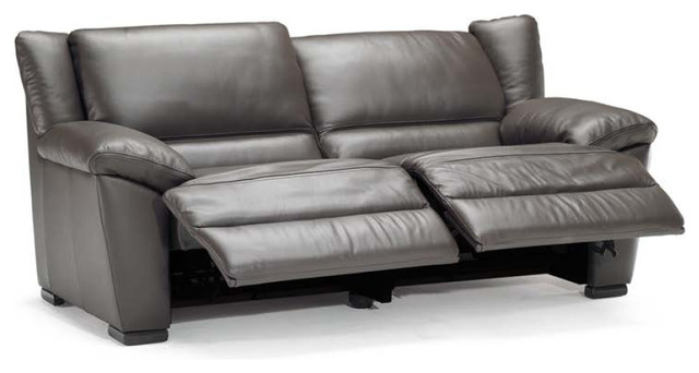 Natuzzi Editions Leather Dual Reclining Sofa A319