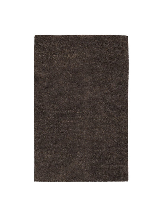 Surya - Metropolitan Dark Brown Rug - Features: -Construction: Handmade. -Technique: Woven. -Material: 100% New Zealand Wool. -Origin: India. -Collection: Metropolitan. -Shag style. -Plush design.