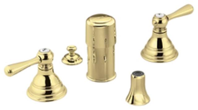 Moen T5210P Kingsley Bidet Faucet Polished Brass Modern Bathroom Faucets
