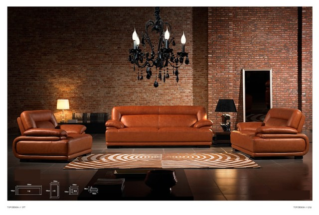 Andaman Italian Leather Sofa Set