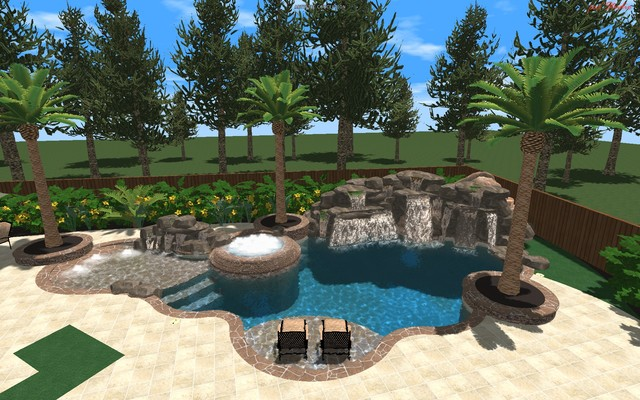 Patel Residence tropical pool