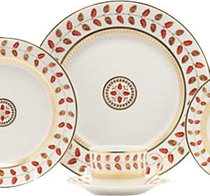 Bernardaud Constance Red 5-Piece Place Setting contemporary-dinnerware-sets