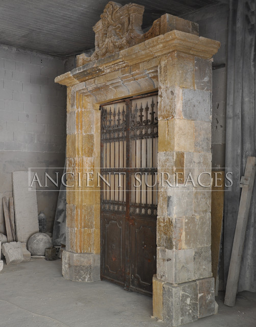Antique Stone Entryways mediterranean-entry
