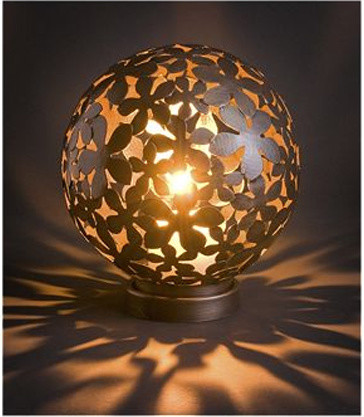 Flower Ball Lantern eclectic outdoor lighting