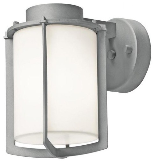 Access Lighting 20371MG-SAT/OPL One Light Nickel Outdoor Wall Light outdoor-wall-lights-and-sconces